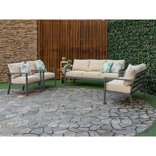 Mcclain Outdoor 4 Piece Sofa Seating Group with Cushions by Bayou Breeze