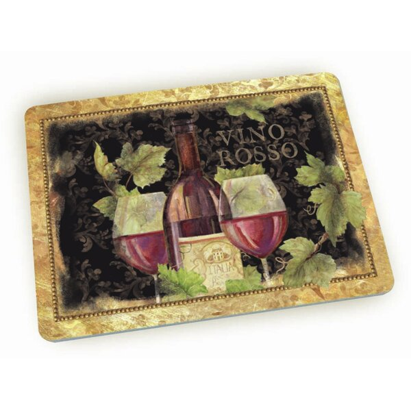 Gilded Wine Glass Cutting Board by Lang
