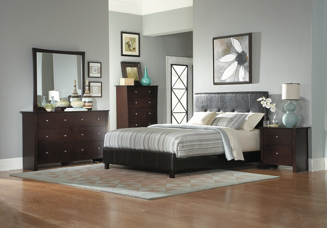 Woodhaven Hill Avelar Upholstered Panel Bed & Reviews