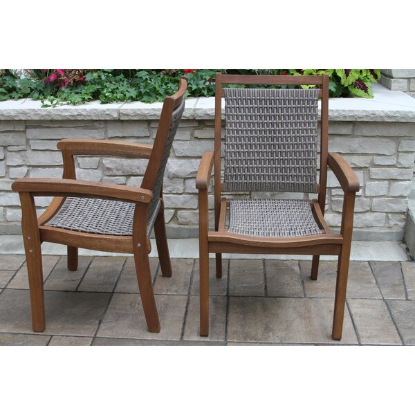 Lesly Stacking Patio Dining Chair by Mistana