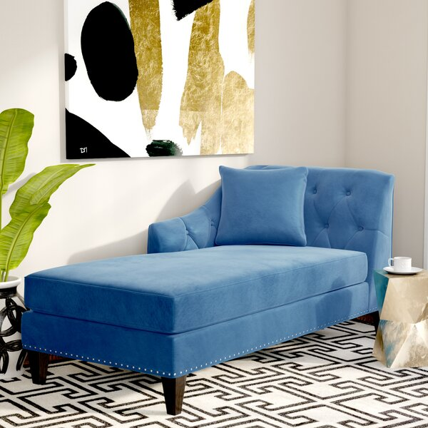 Macdonald Velvet Chaise Lounge by Willa Arlo Interiors