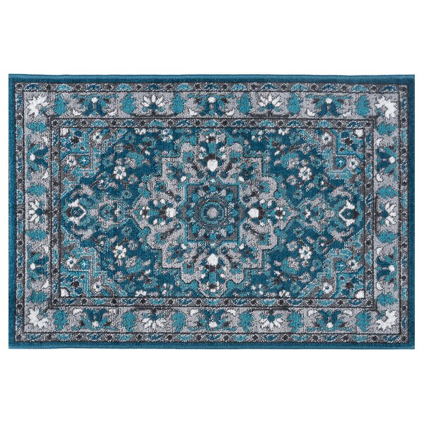 Tyshawn Oriental Blue Area Rug by Bungalow Rose
