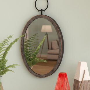 Longshore Tides Lanford Oval Metal Accent Mirror