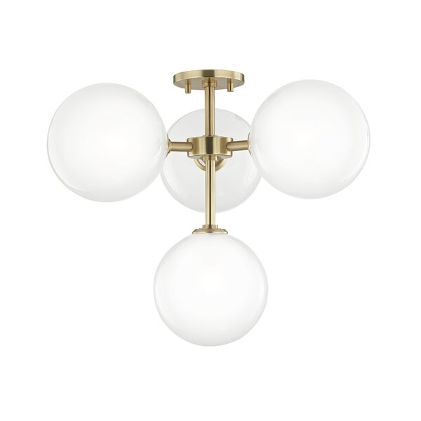 Jaron 4-Light Semi Flush Mount by Corrigan Studio