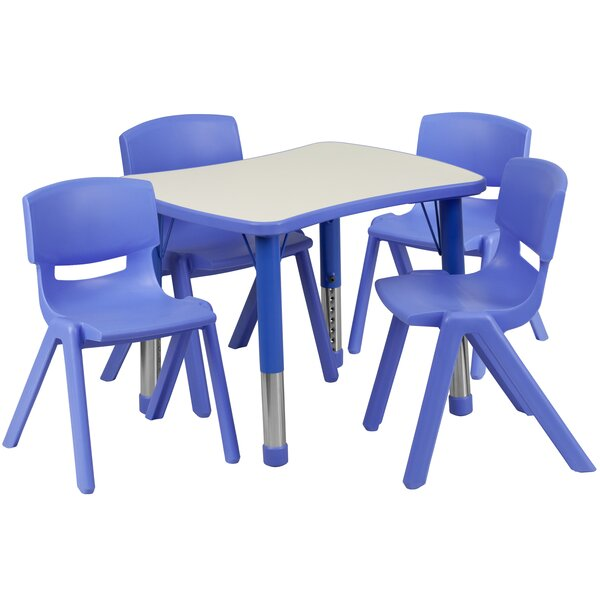 5 Piece Rectangular Activity Table & 10.5 Chair Se