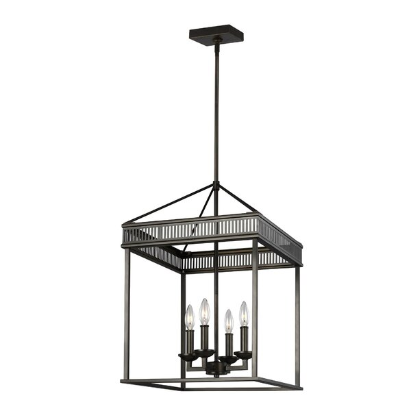 Castanon 4 - Light Lantern Square Chandelier By Gracie Oaks