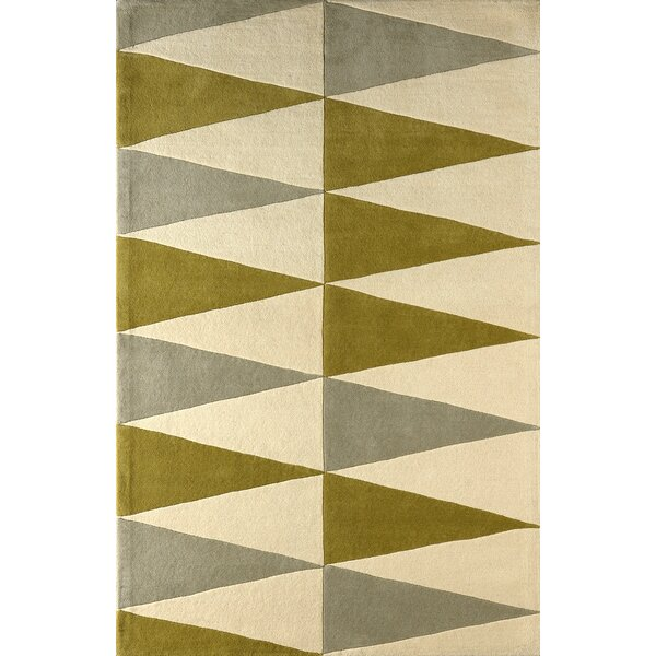 Hisle Hand-Tufted Ivory/Pear Area Rug by Brayden Studio