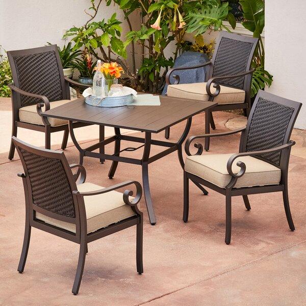 Kingston Seymour Milano 5 Piece Dining Set With Cushions Bayou Breeze RGAR1085