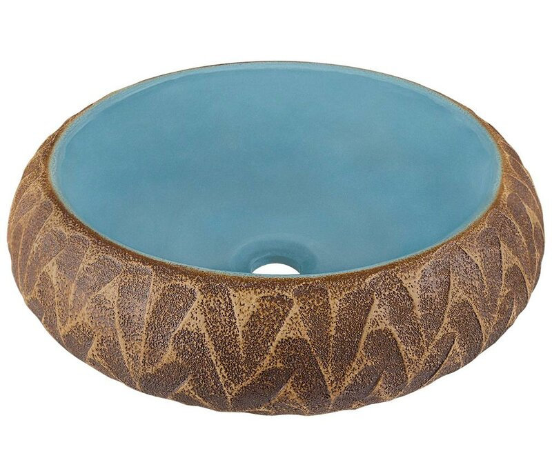 fascinating Wayfair Vessel Sinks Part - 7: Artisan Ceramic Circular Vessel Bathroom Sink