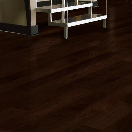 Turlington 5 Engineered Walnut Hardwood Flooring in Low Glossy Cocoa Brown by Bruce Flooring