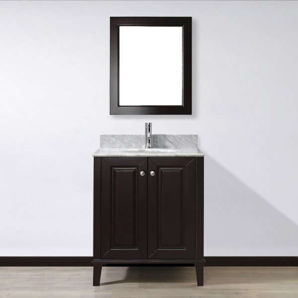 Milly 30 Single Bathroom Vanity Set with Mirror by Bauhaus Bath
