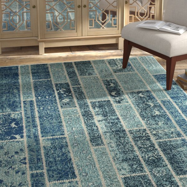 Lobardy Blue Area Rug by Bungalow Rose