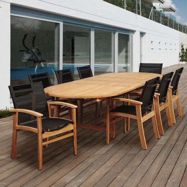 Hillsford 9 Piece Teak Dining Set by Beachcrest Home