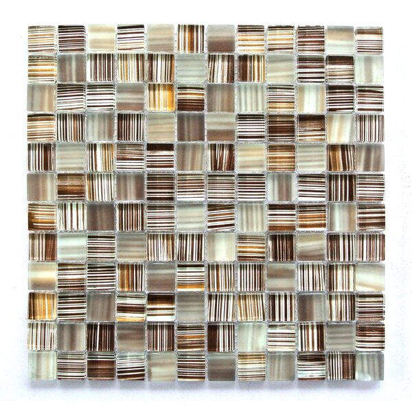 Handicraft 1 x 1 Glass Mosaic Tile in Light Brown by Abolos