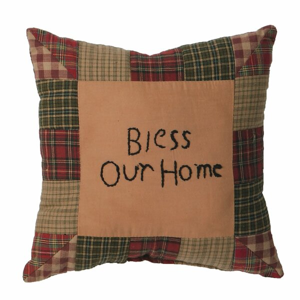 Maconay Bless Our Home Cotton Throw Pillow by August Grove