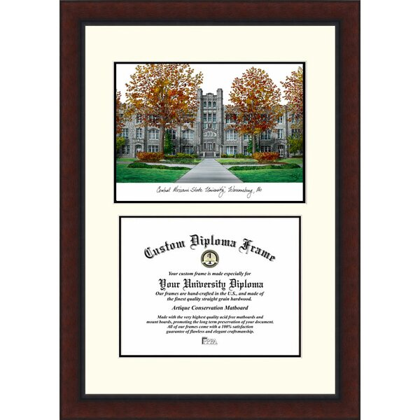 NCAA Central Missouri University Legacy Scholar Diploma Picture Frame by Campus Images