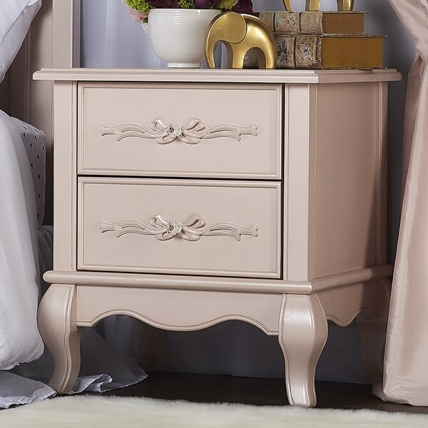 Aurora 2 Drawer Nightstand by Evolur