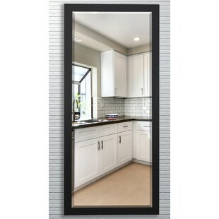 Best Beveled Satin black Wall Mirror ByDarby Home Co