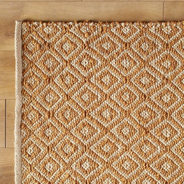 Diamonds in the Sky Hand-Woven Gold Yellow Area Rug by Birch Lane Kids™
