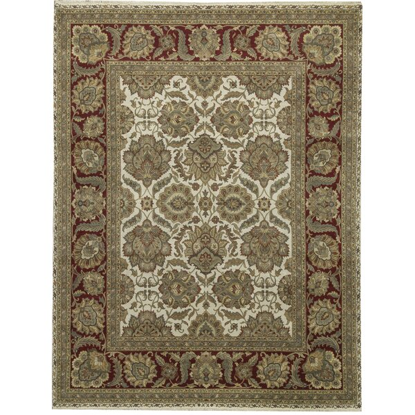 One-of-a-Kind Trinity Handwoven 11'10 x 15'3 Wool Beige Area Rug