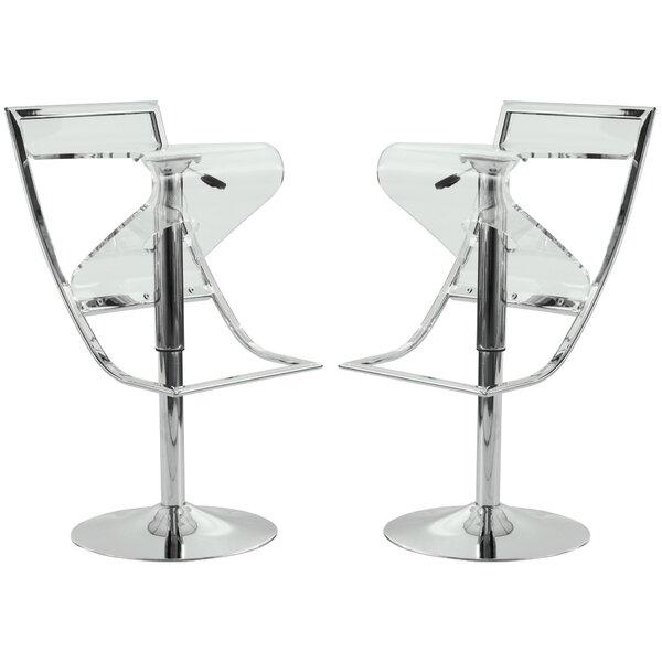 Napoli Adjustable Height Swivel Bar Stool (Set of 2) by LeisureMod