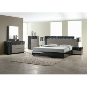 Elegant Kahlil Platform 5 Piece Bedroom Set