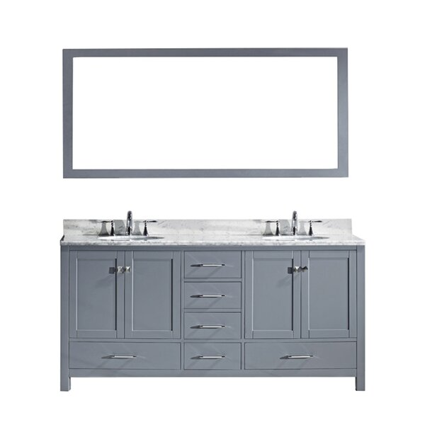 Serigne 73 Double Bathroom Vanity Set with Mirror
