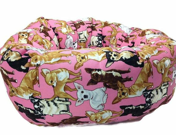 Chihuahua Round Bolster by East Urban Home