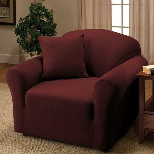 Stretch Single Seat Sofa Slipcover by Rebrilliant