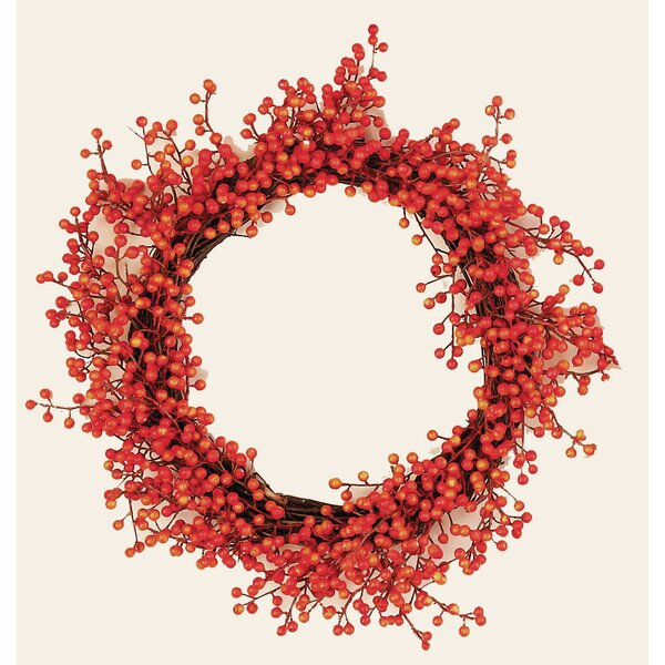 Fall Berry 18 Wreath by The Holiday Aisle