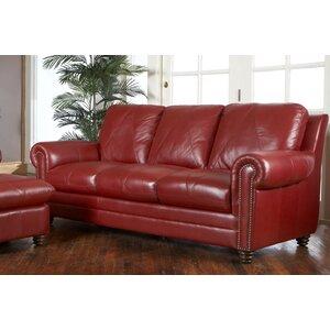 Barnstormer Leather Sofa by Red Barrel Studio