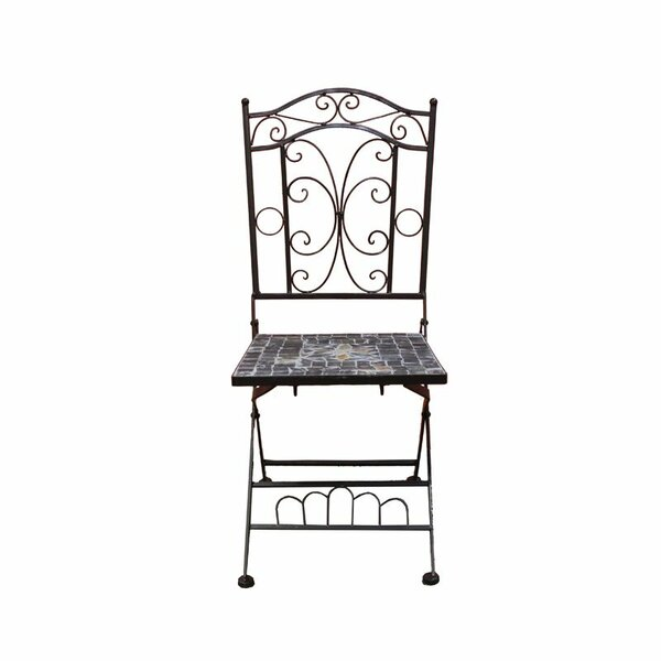Carrolltown Mosaic Patio Dining Chair by Fleur De Lis Living