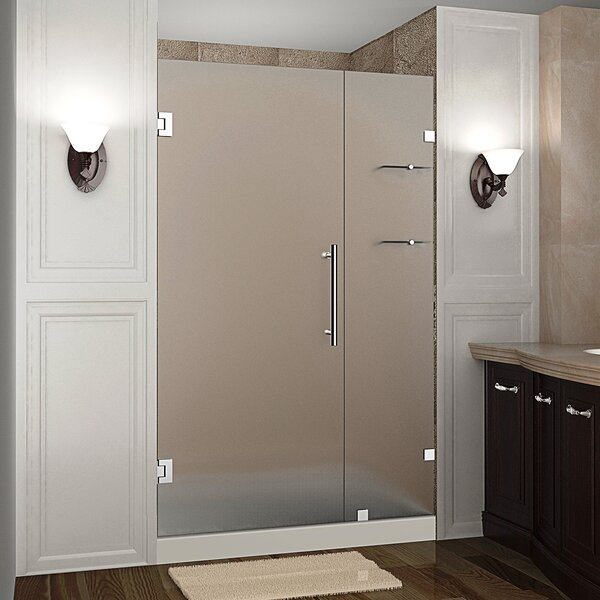 Nautis GS 46 x 72 Hinged Completely Frameless Shower Door with Shelves by Aston