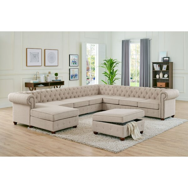 Schooley Left Hand Facing Modular Sectional with Ottoman by Alcott Hill Alcott Hill