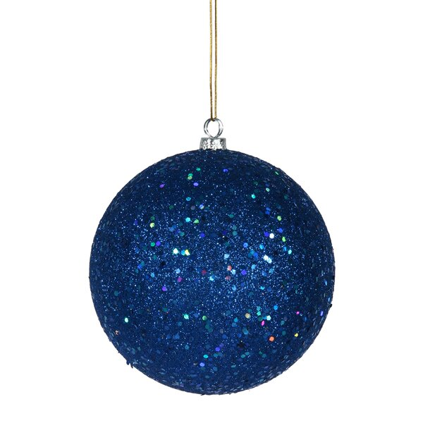 Drilled Cap Sequin Ball Ornament by The Holiday Aisle