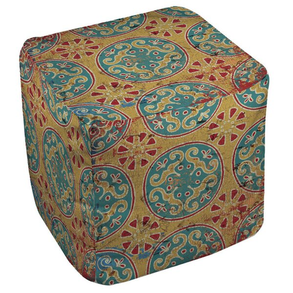 Theo Medallion Cube Ottoman by World Menagerie