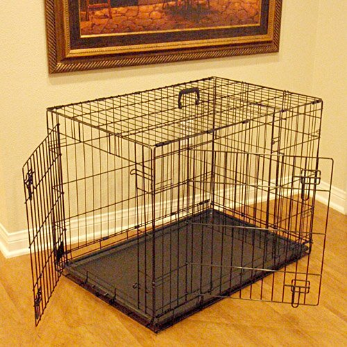 Double Door Folding Pet Crate by Majestic Pet Products