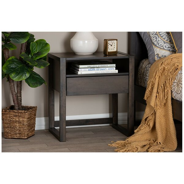Hibbing Wood 1 Drawer Nightstand by Brayden Studio