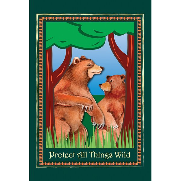 Protect Bears 2-Sided Garden flag by Toland Home Garden