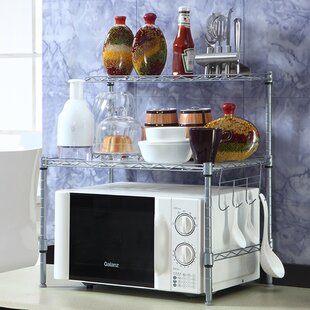 Searching for Antonia Microwave Oven 2-tier Adjustable Steel Baker's Rack Great Price