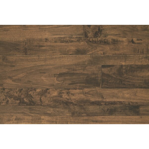 Antigua Random Width Engineered Shiranga Hardwood Flooring in Cinder by Mannington