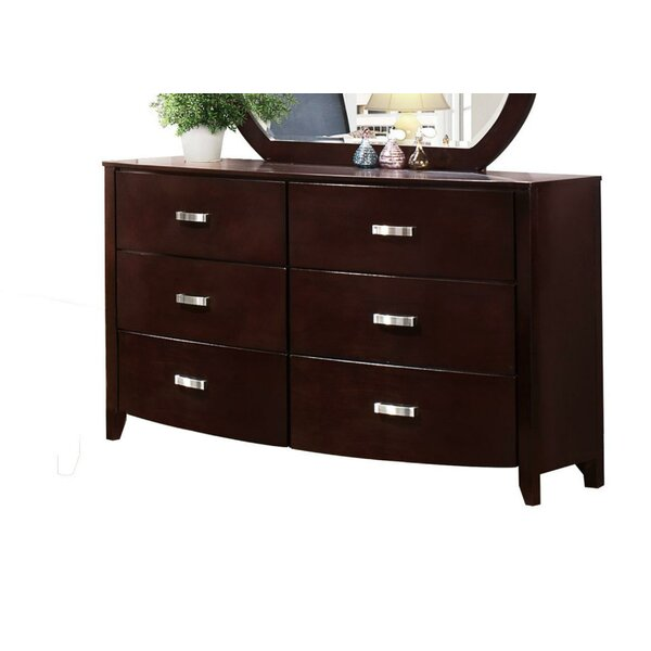 Gia 6 Drawer Double Dresser by Red Barrel Studio