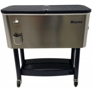65 Qt. Rolling Party Cooler by Beacon Garden Produ