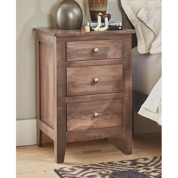 Mccalla 3 Drawer Nightstand By Millwood Pines by Millwood Pines Today Sale Only