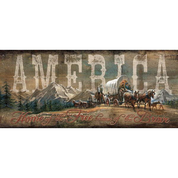 America by Terry Redlin Textual Art by Wild Wings