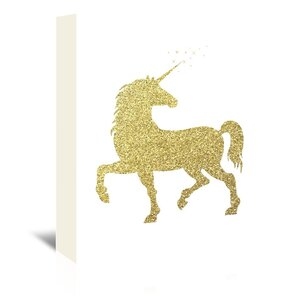 'Unicorn' Graphic Art Print on Wrapped Canvas by East Urban Home