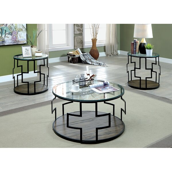 Carlos 3 Piece Coffee Table Set by 17 Stories