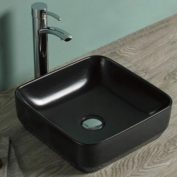 Above Counter for Drilling Ceramic Square Vessel Bathroom Sink