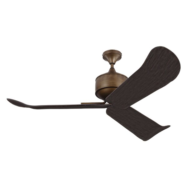 56 Metis 3-Blade Ceiling Fan with Remote by Brayden Studio