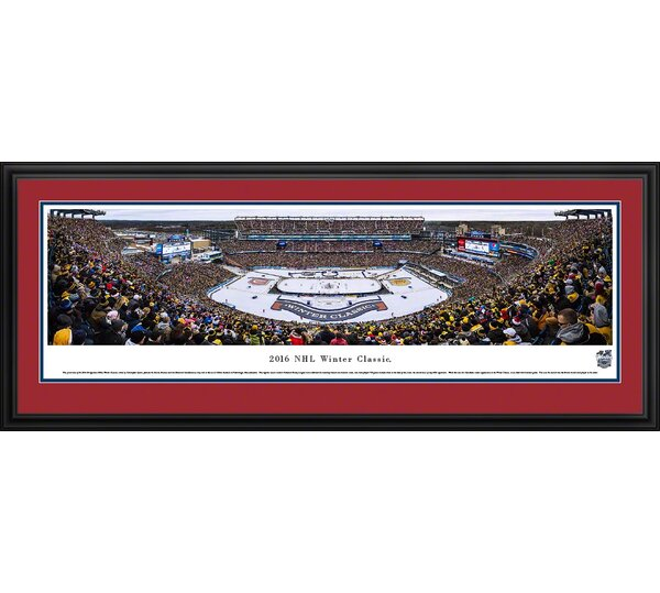 NHL Winter Classic 2016 - Canadians by Christopher Gjevre Framed Photographic Print by Blakeway Worldwide Panoramas, Inc